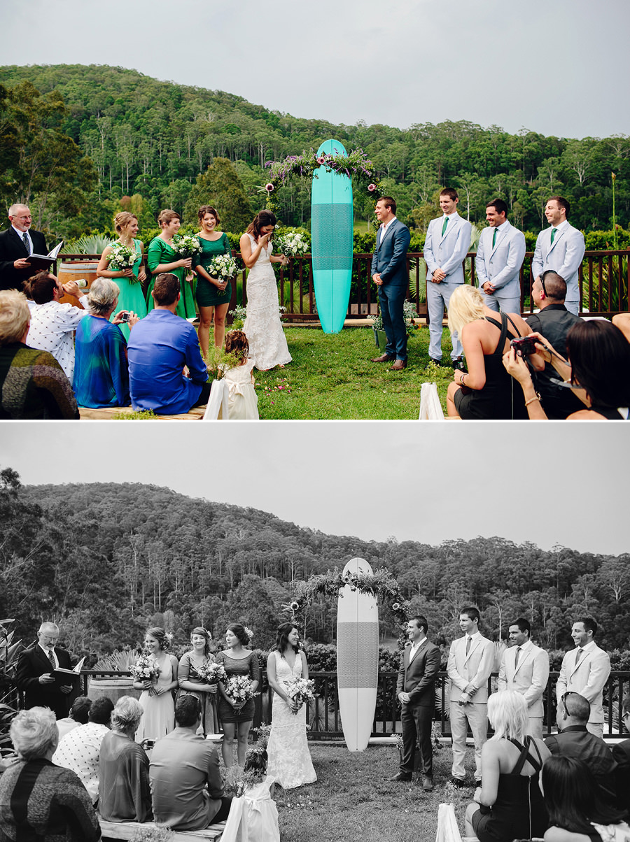 Coffs Harbour Hinterland Wedding Photography: Ceremony