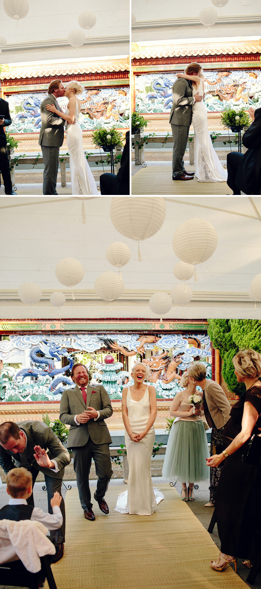 Chinese Garden Darling Harbour Wedding Photographers: Ceremony