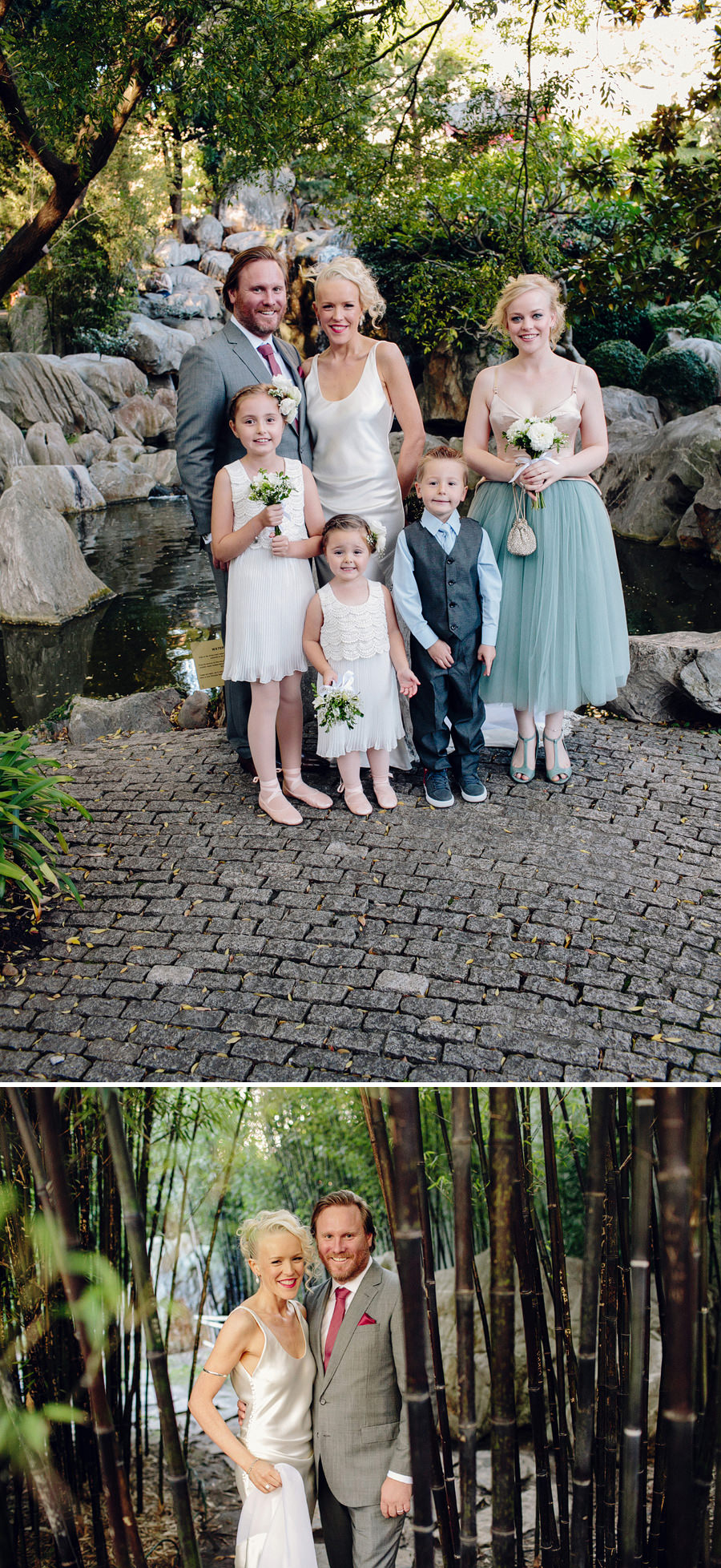 Chinese Garden Darling Harbour Wedding Photography: Bridal party