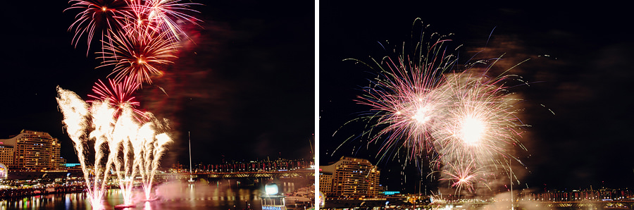 Darling Harbour Wedding Photographers: Fireworks