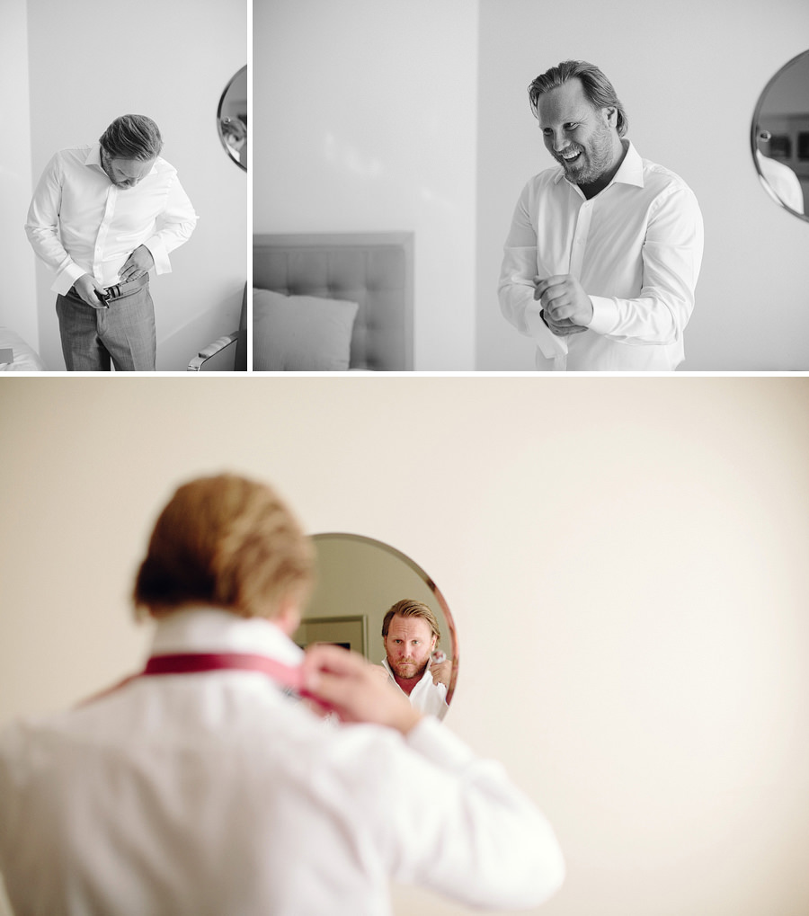 Documentary Wedding Photographers: Groom getting ready