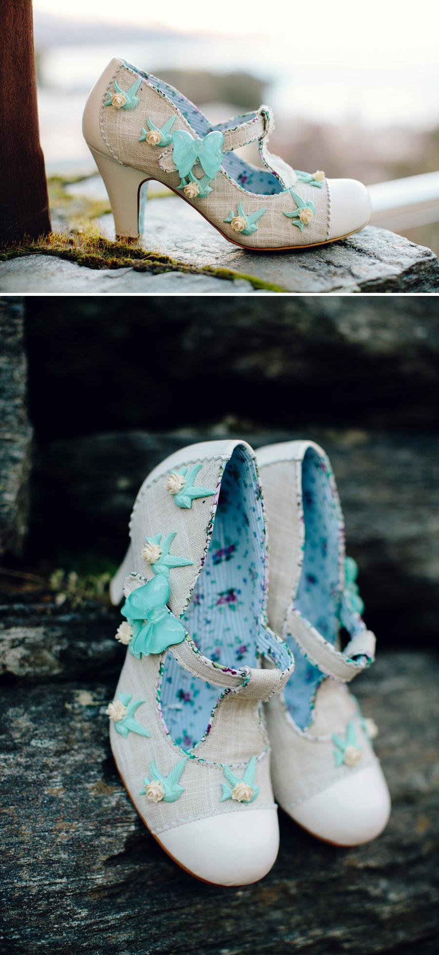 Queenstown New Zealand Wedding Photographer: Bride's shoes