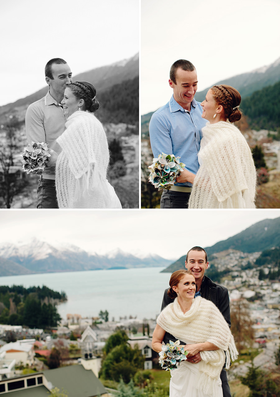 Queenstown New Zealand Wedding Photography: Bride & Groom portraits
