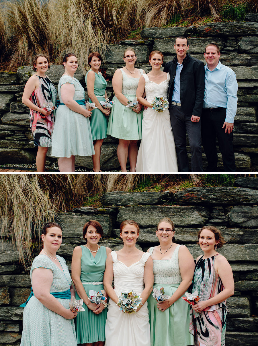 South Island Wedding Photographers: Bridal party portraits