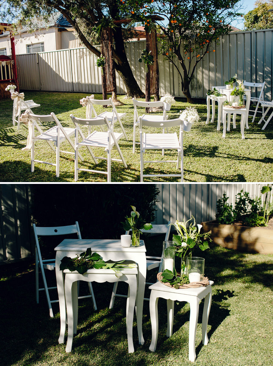 Backyard Wedding Photographer: Ceremony details