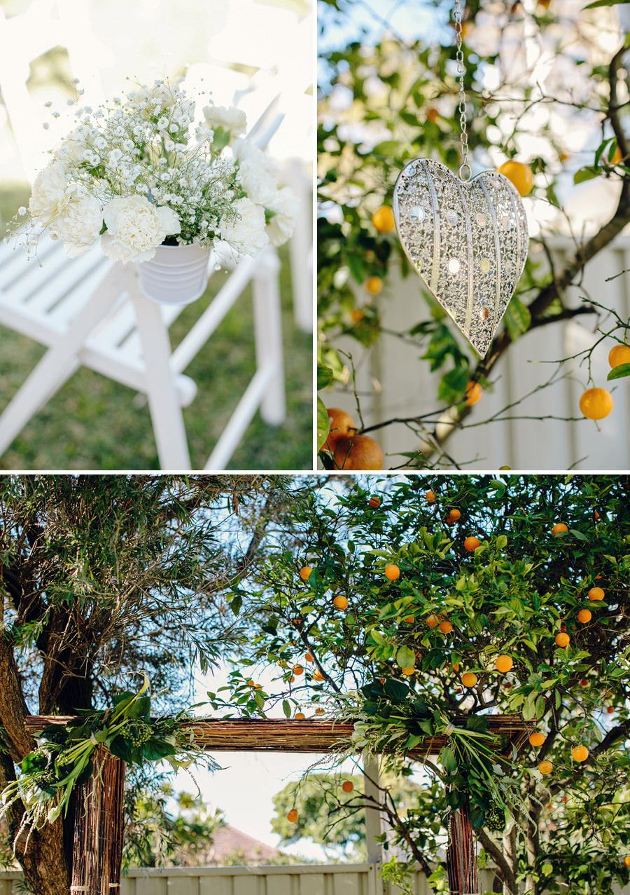 Backyard Wedding Photography: Ceremony details