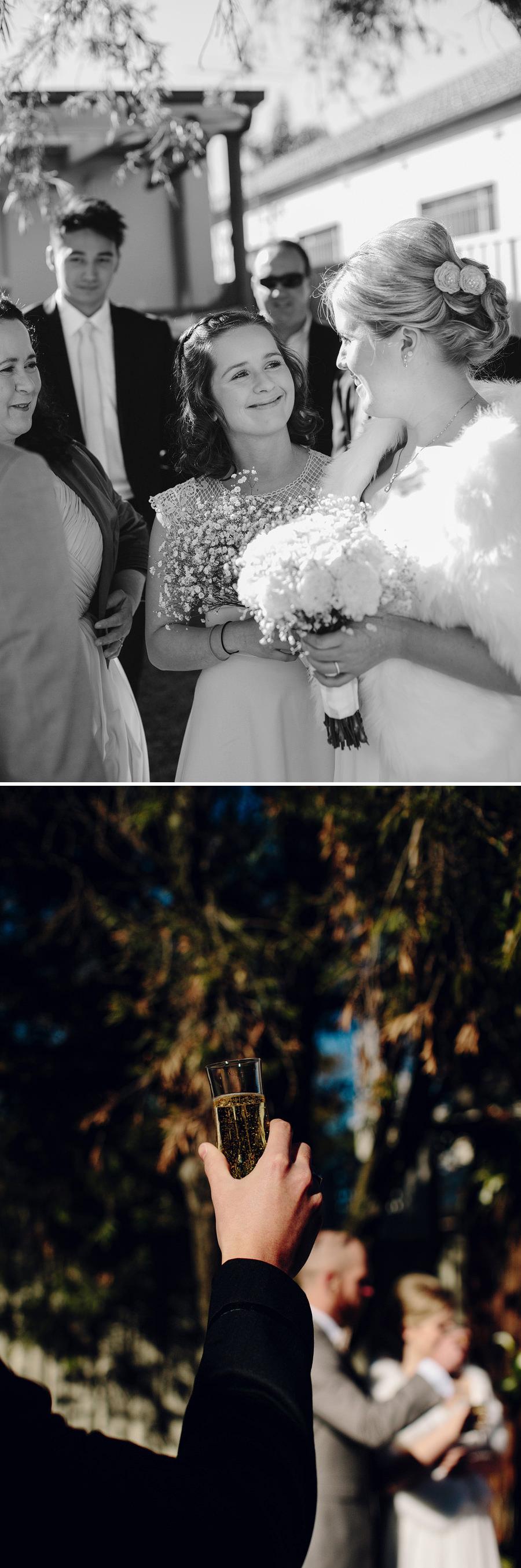 Winter Wedding Photography: Toast