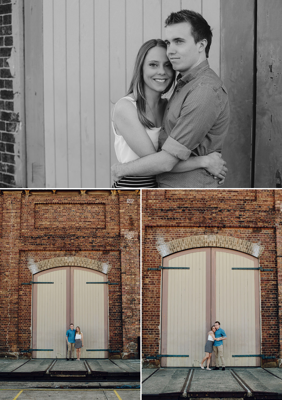 Carriageworks Engagement Photographer: Kristyn & Shaun