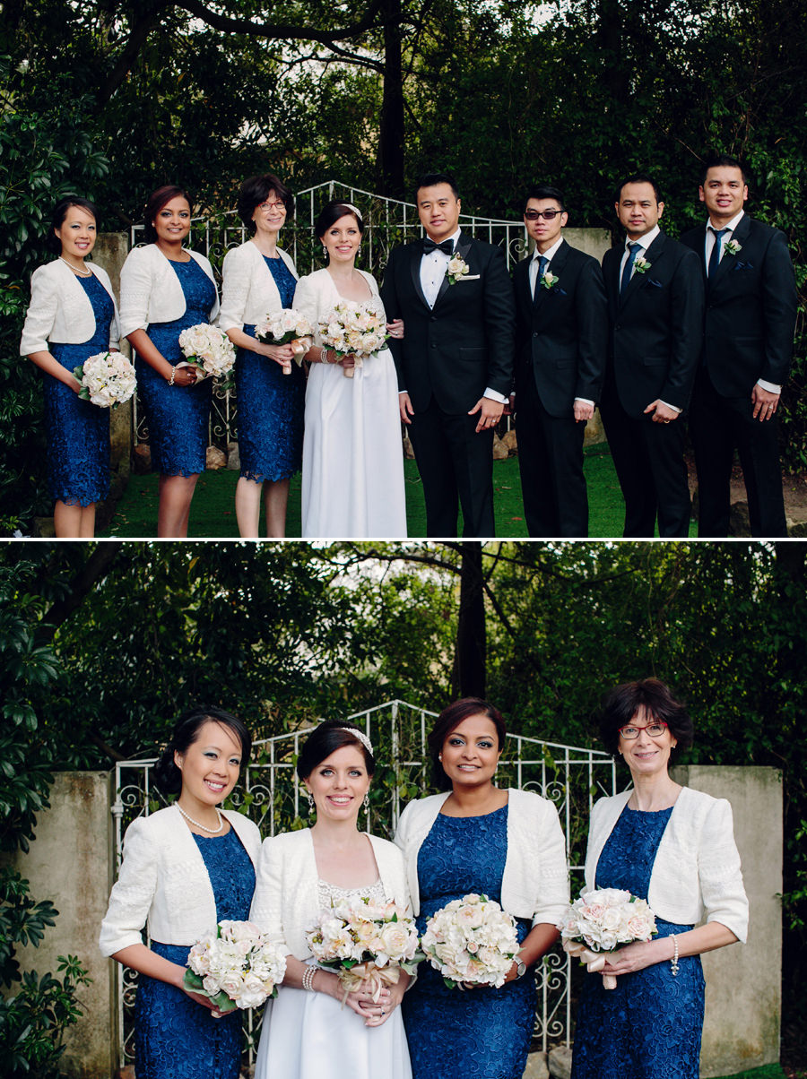 Elegant Wedding Photographer: Bridal party portraits