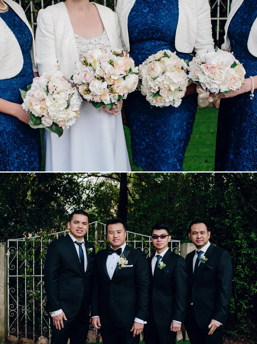 Elegant Wedding Photographers: Bridal party portraits