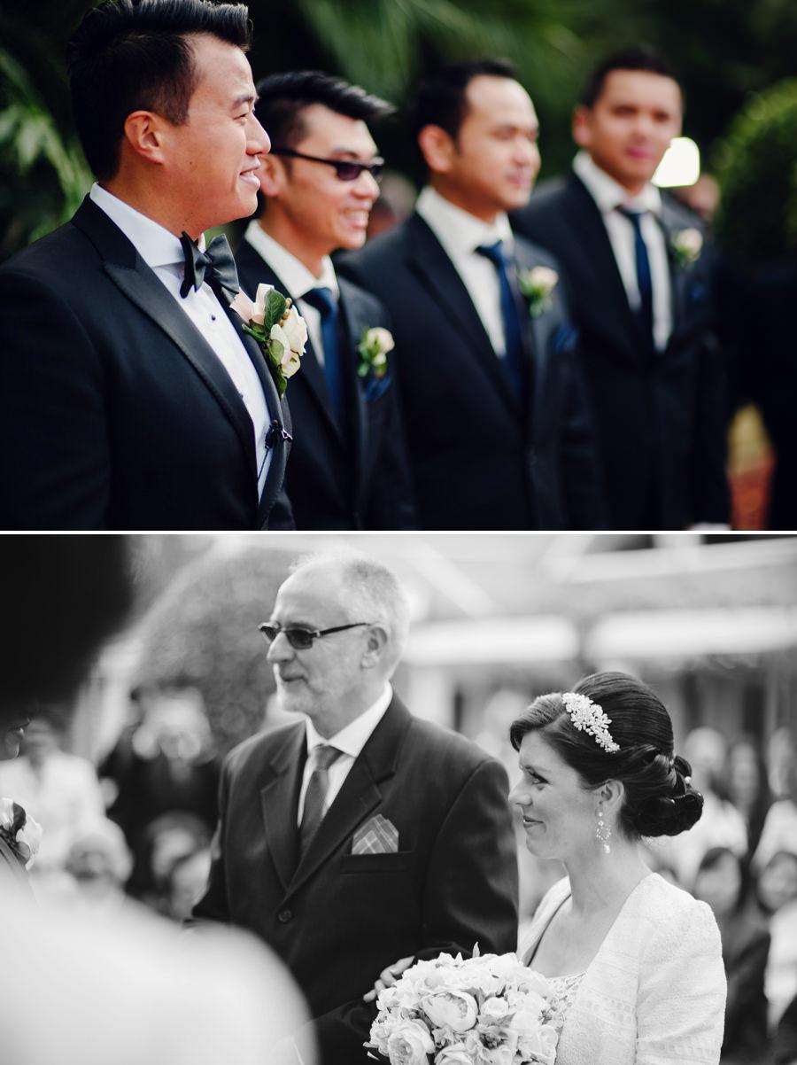 Enchanted Garden Wedding Photographer: Walking down the aisle