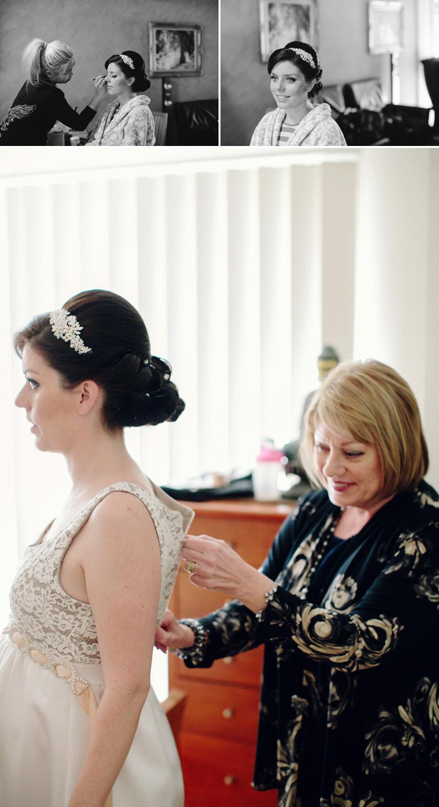 Northmead Wedding Photography: Bride getting ready