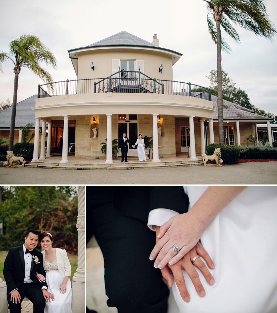 Oatlands House Wedding Photographers: Bride & Groom portraits