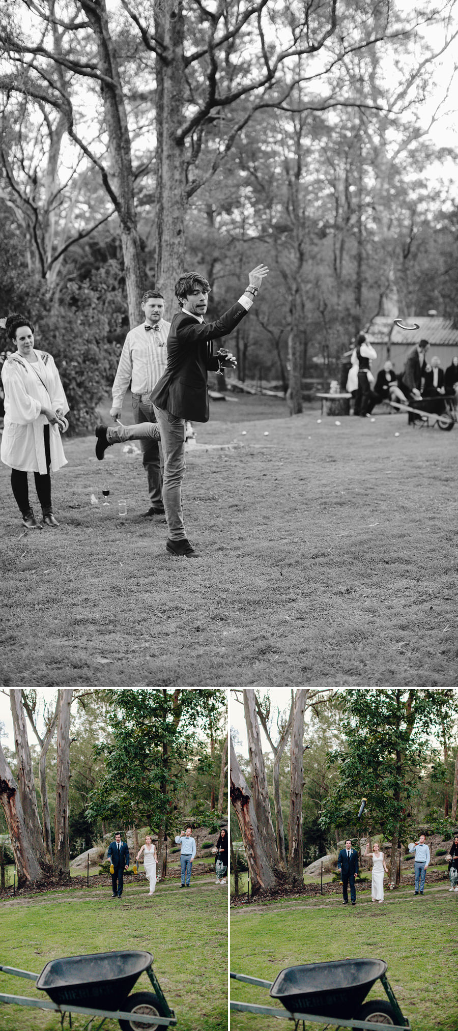 Modern Wedding Photography: Lawn Games