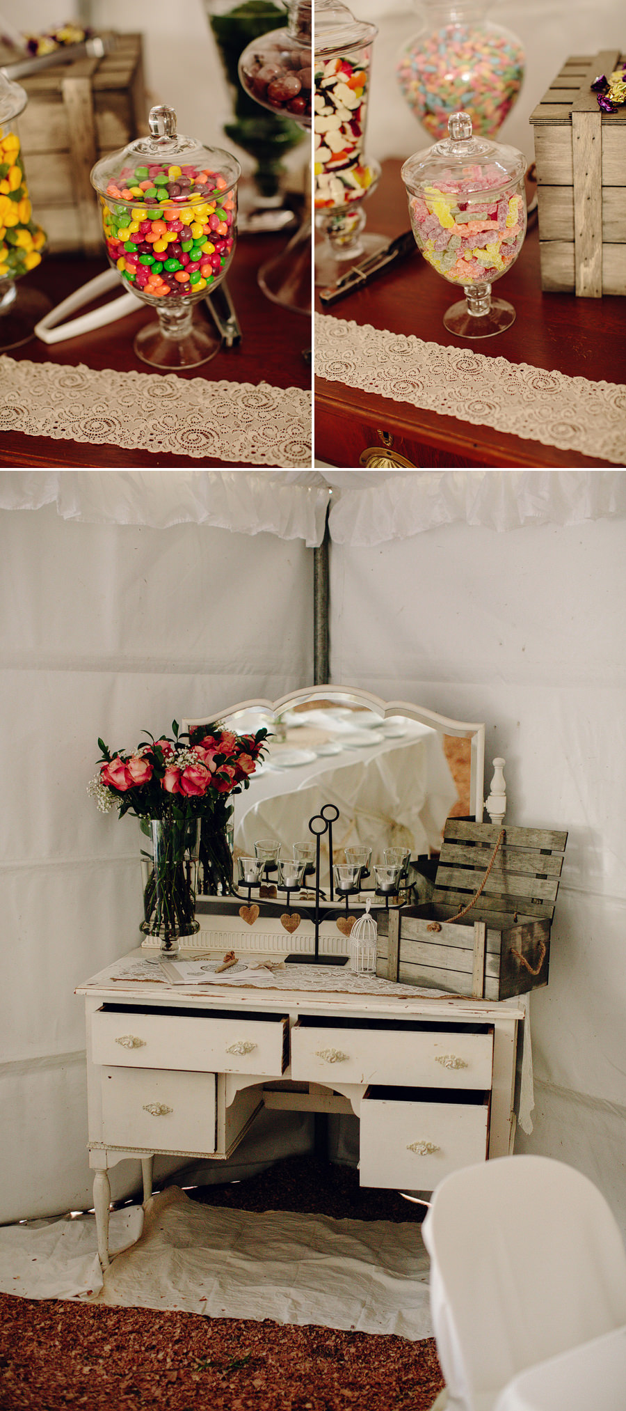 Rustic Wedding Photography: Reception details