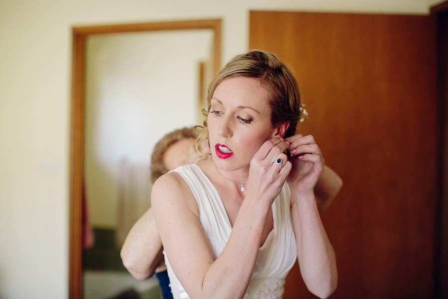 Sackville Wedding Photographer: Bride getting ready
