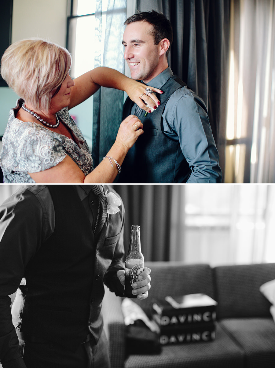 Documentary Wedding Photographer: Groom getting ready