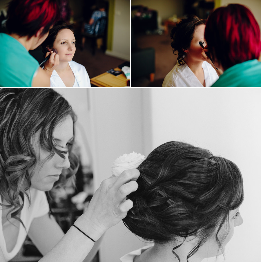 Rydges North Sydney Wedding Photographers: Hair & makeup