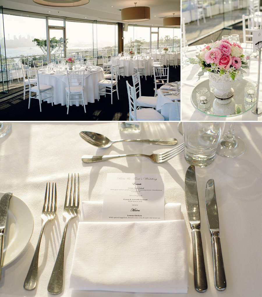 Taronga Centre Wedding Photographers: Reception details