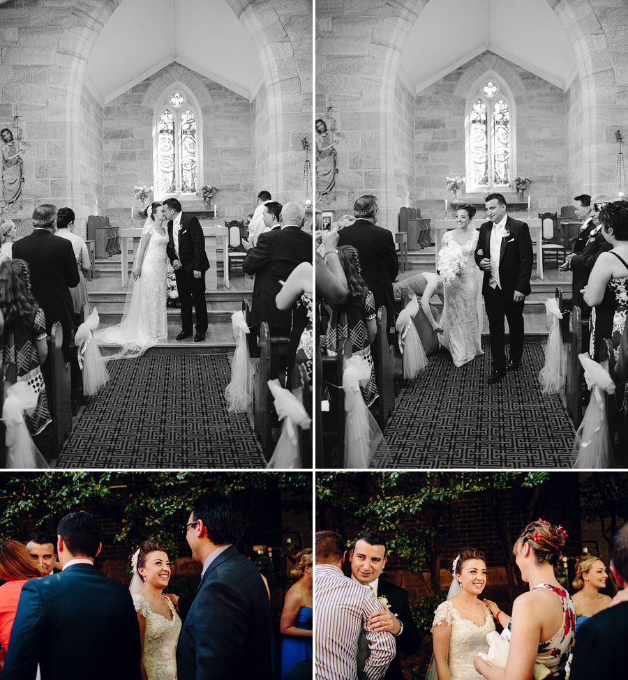 Saint Bede Pyrmont Wedding Photography: Ceremony