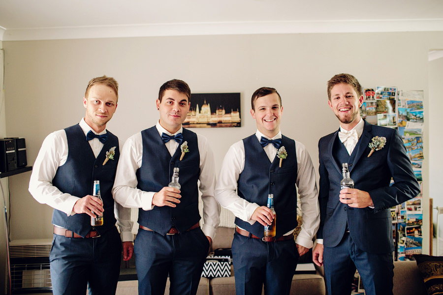 Macarthur Wedding Photography: Boys getting ready
