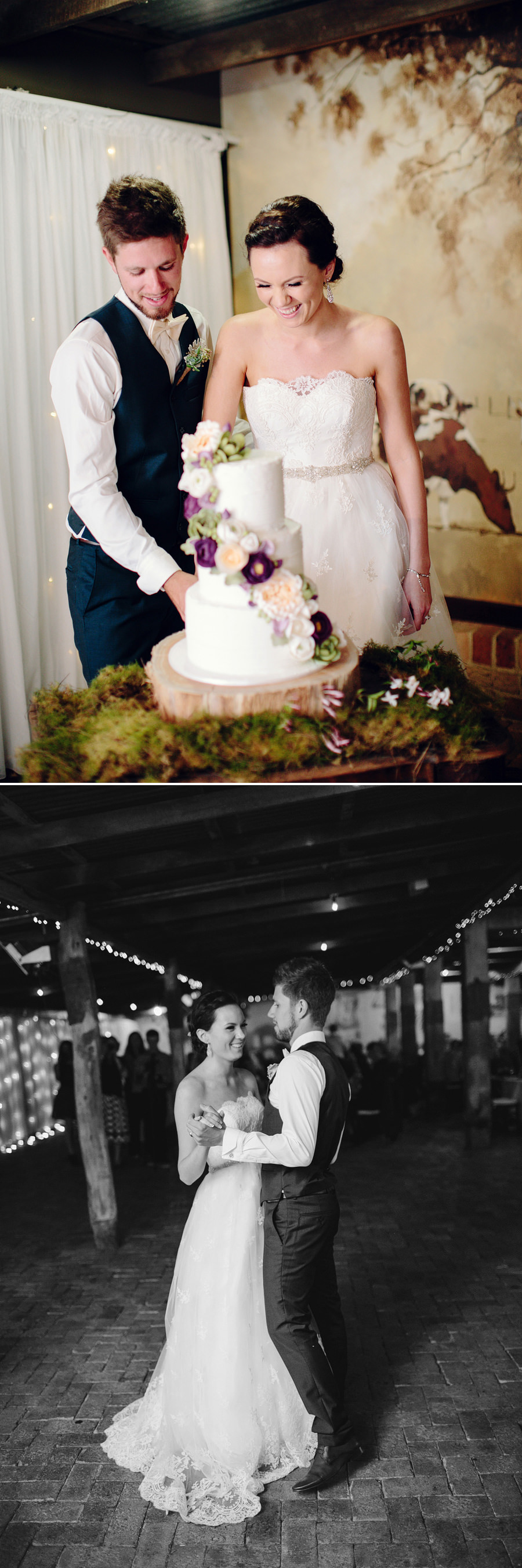 Modern Wedding Photography: Cake cutting & first dance
