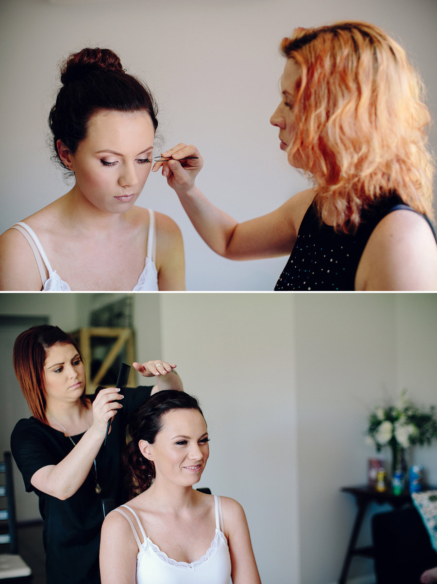 Narellan Vale Wedding Photographers: Girls getting ready
