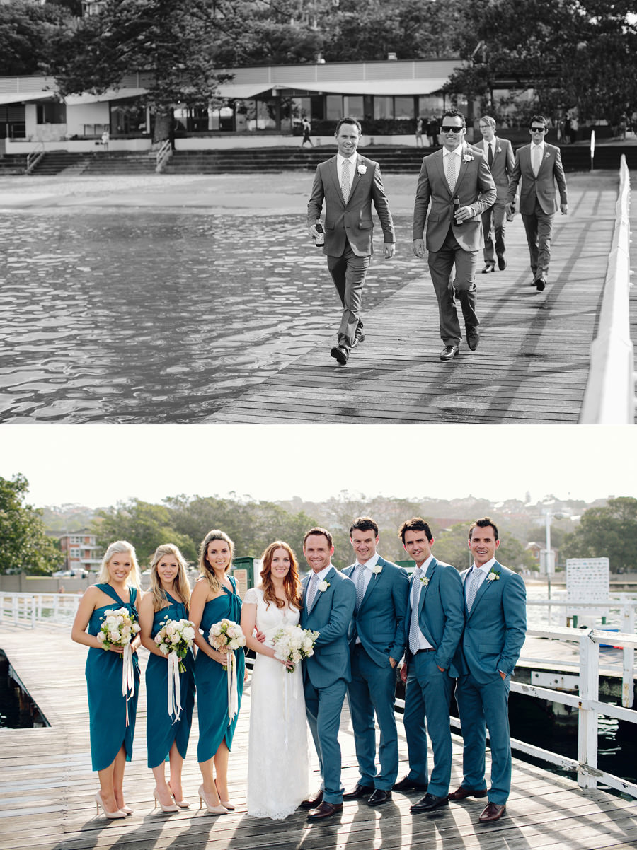 Balmoral Pier Wedding Photographer: Bridal party portraits