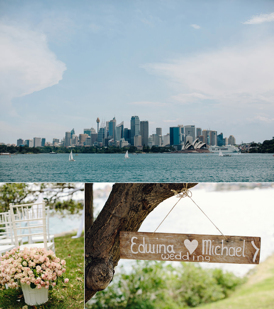 Cremorne Point Wedding Photographers: Sydney skyline