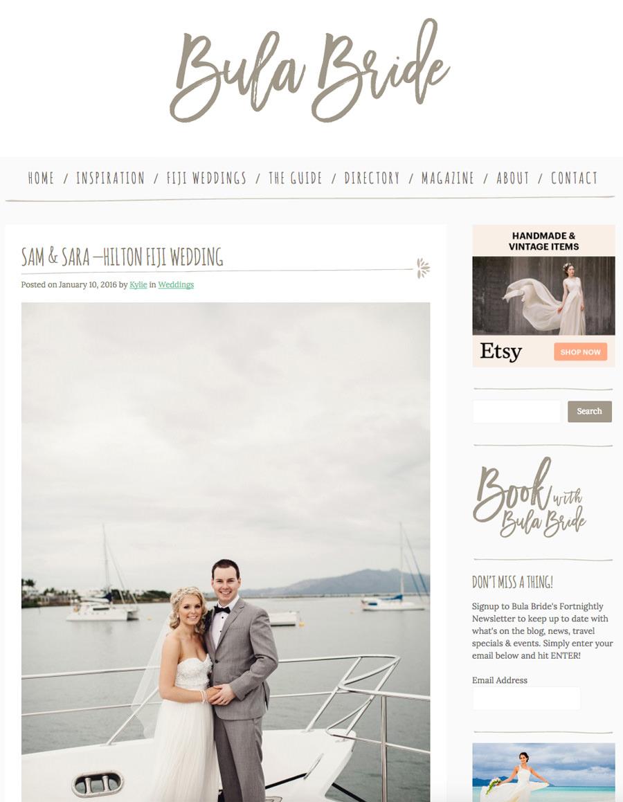 Sara Sam Featured Bula Bride