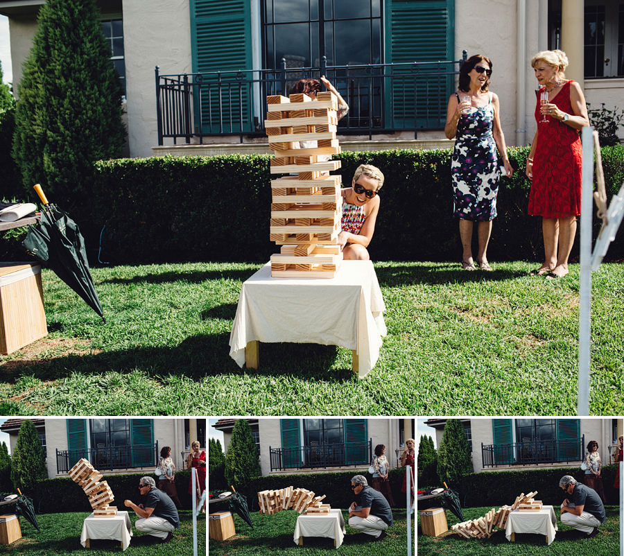 Fun Wedding Photographer: Giant Jenga