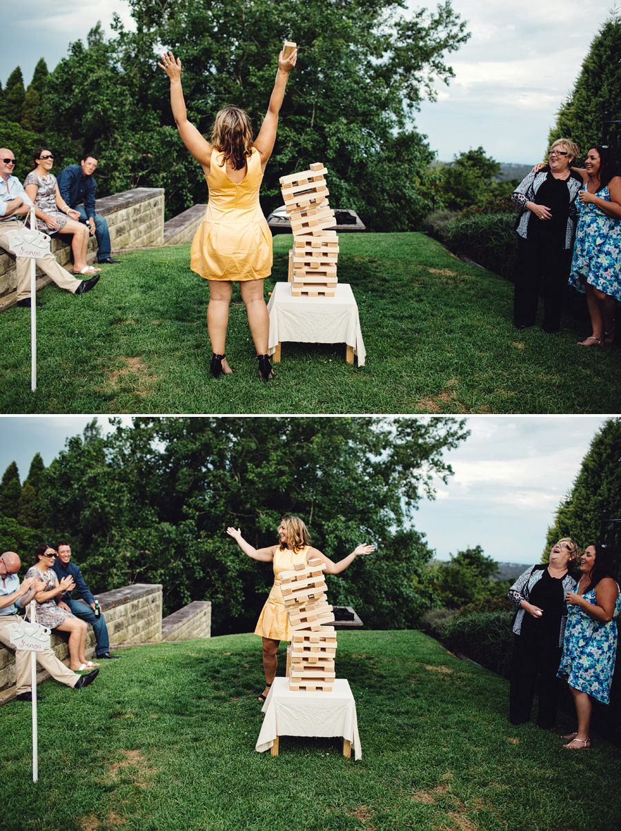 Fun Wedding Photography: Giant Jenga