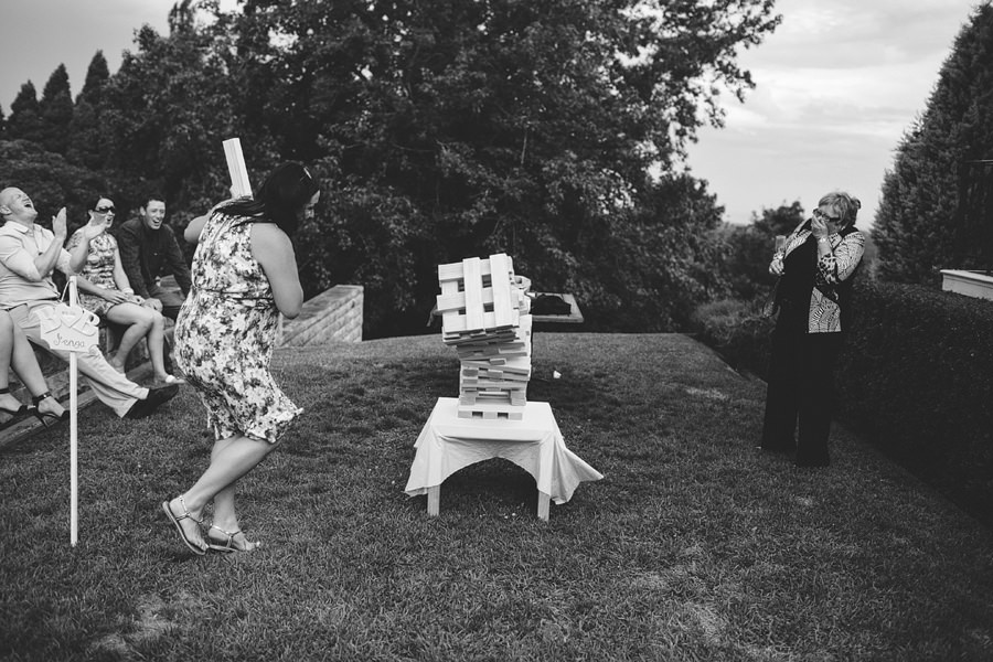 Fun Wedding Photographers: Giant Jenga