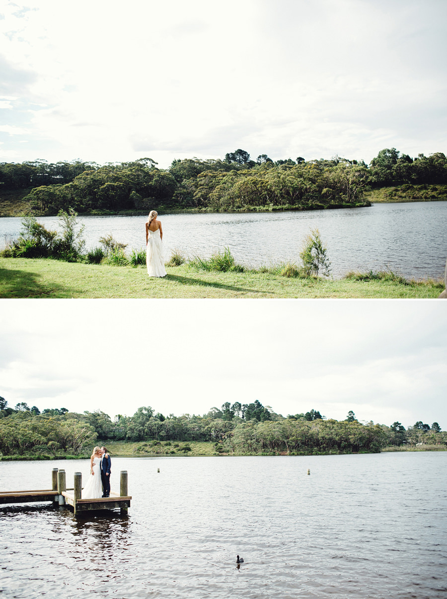 Wentworth Falls Lake Wedding Photography: Bride & Groom Portraits