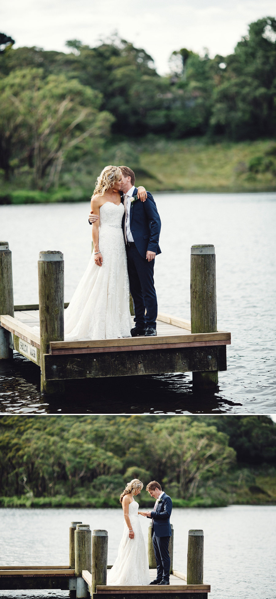 Wentworth Falls Lake Wedding Photographers: Bride & Groom Portraits