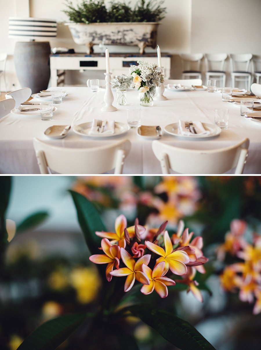 Northern Beaches Wedding Photography: Reception Details
