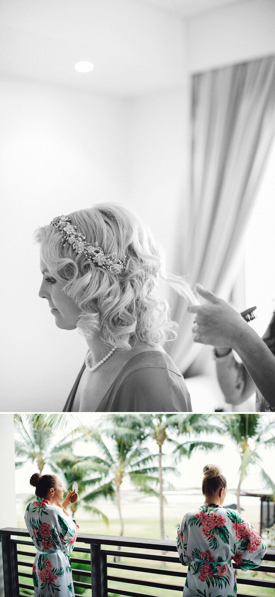 Denarau Island Fiji Wedding Photographers: Bride getting ready