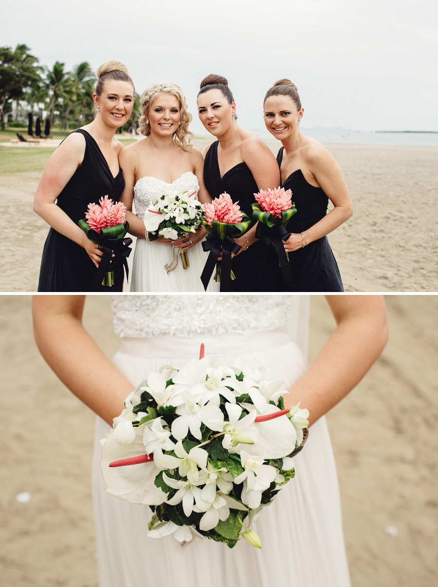 Denarau Island Wedding Photography: Bridal party portraits