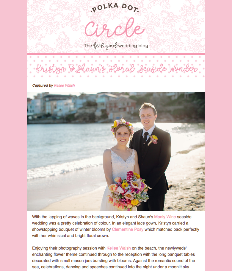 Polka Dot Circle: Manly Wedding Feature