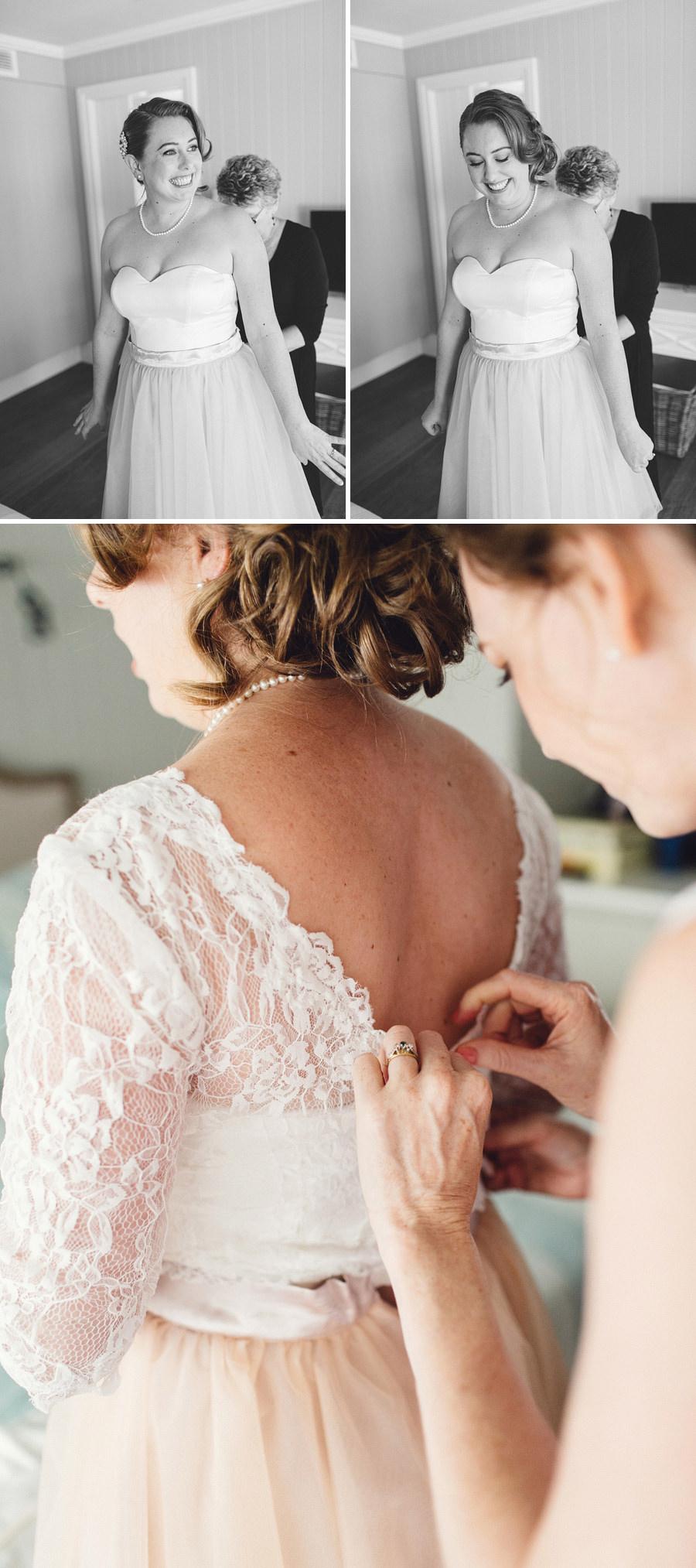 Candid Wedding Photography: Bride getting ready