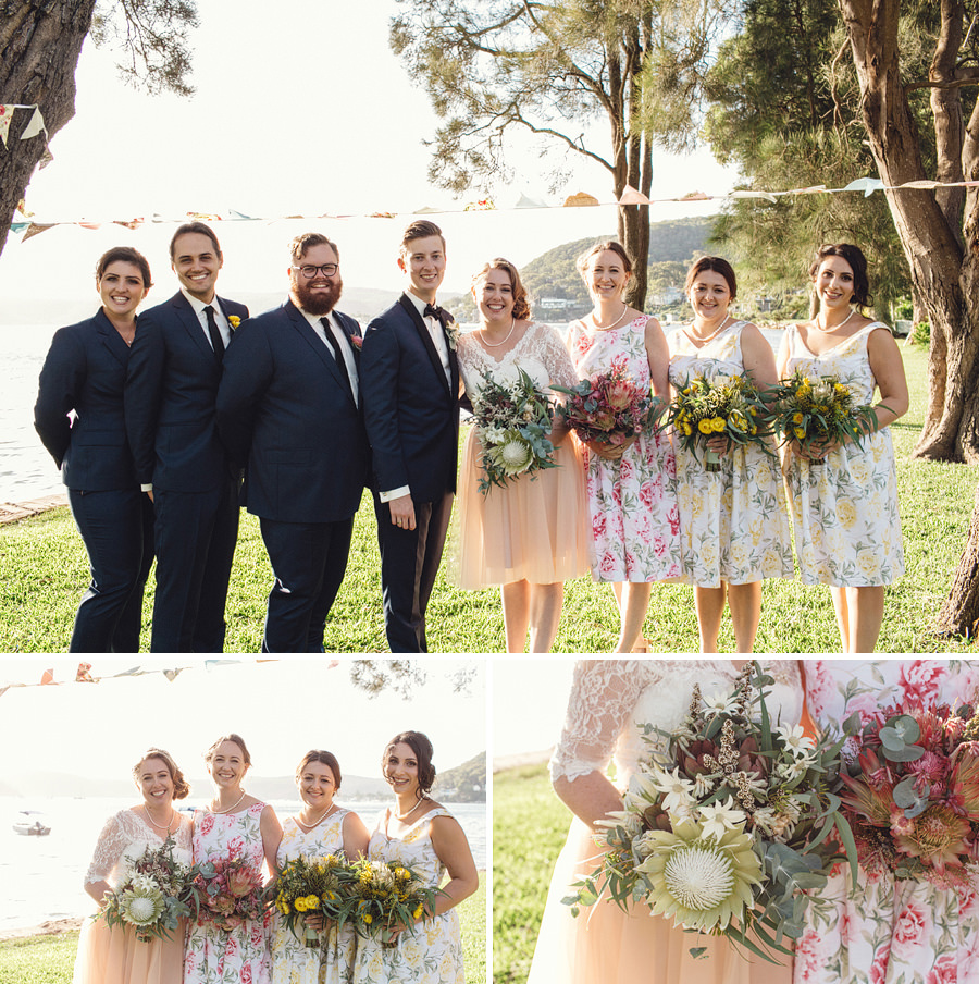 Currawong Reserve Palm Beach Wedding Photographer: Bridal party portraits