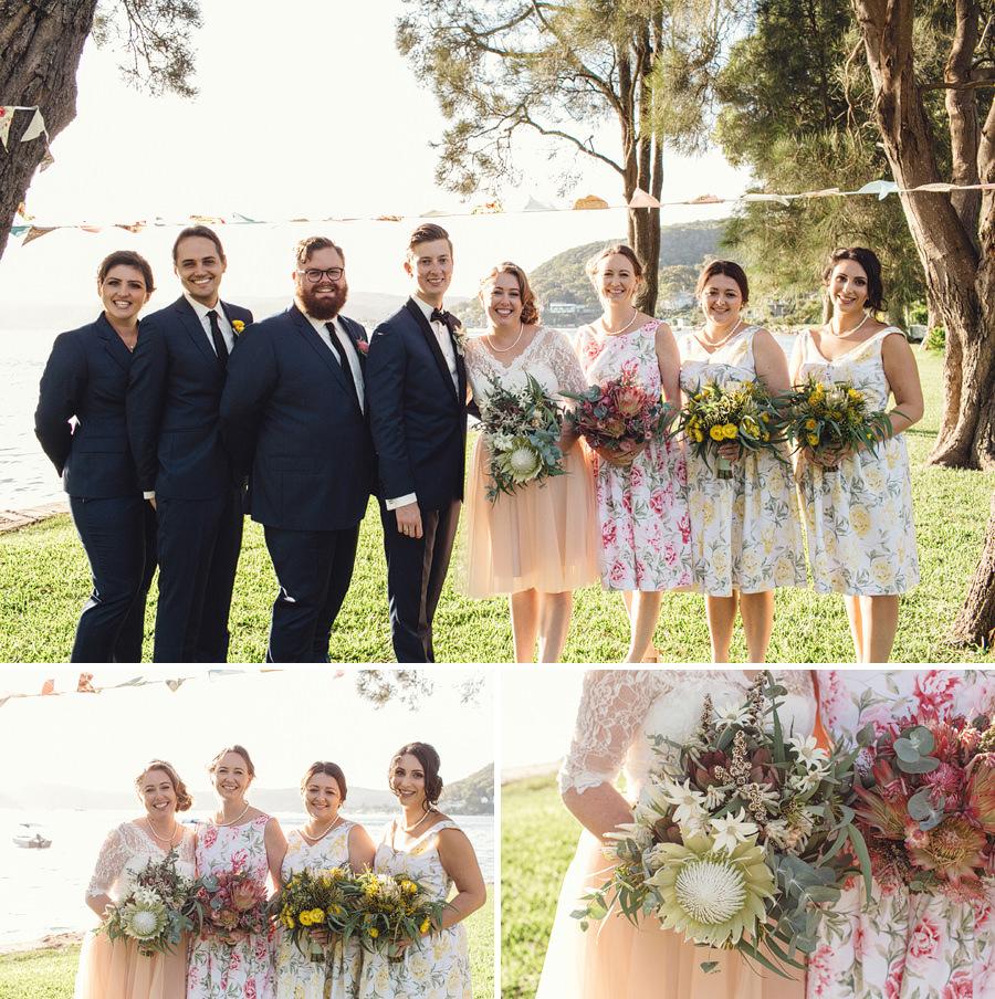 Currawong Reserve Palm Beach Wedding Photographer: Bridal party portraits