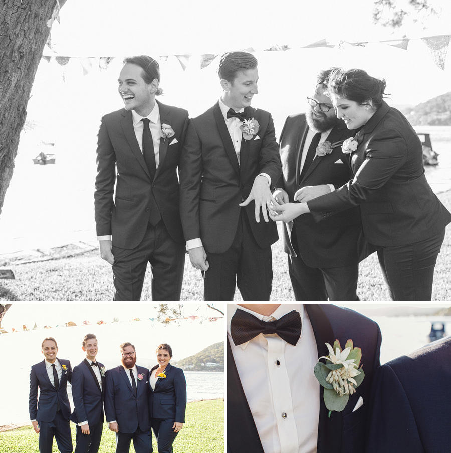 Currawong Reserve Palm Beach Wedding Photographers: Bridal party portraits