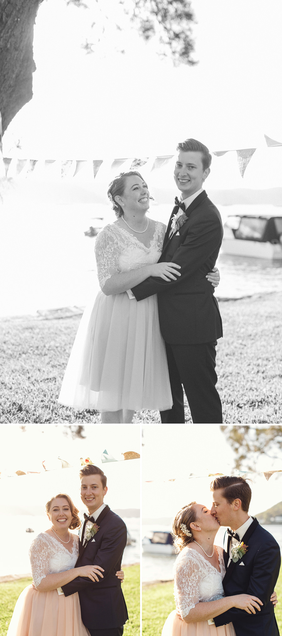 Currawong Reserve Palm Beach Wedding Photography: Bride & Groom portraits