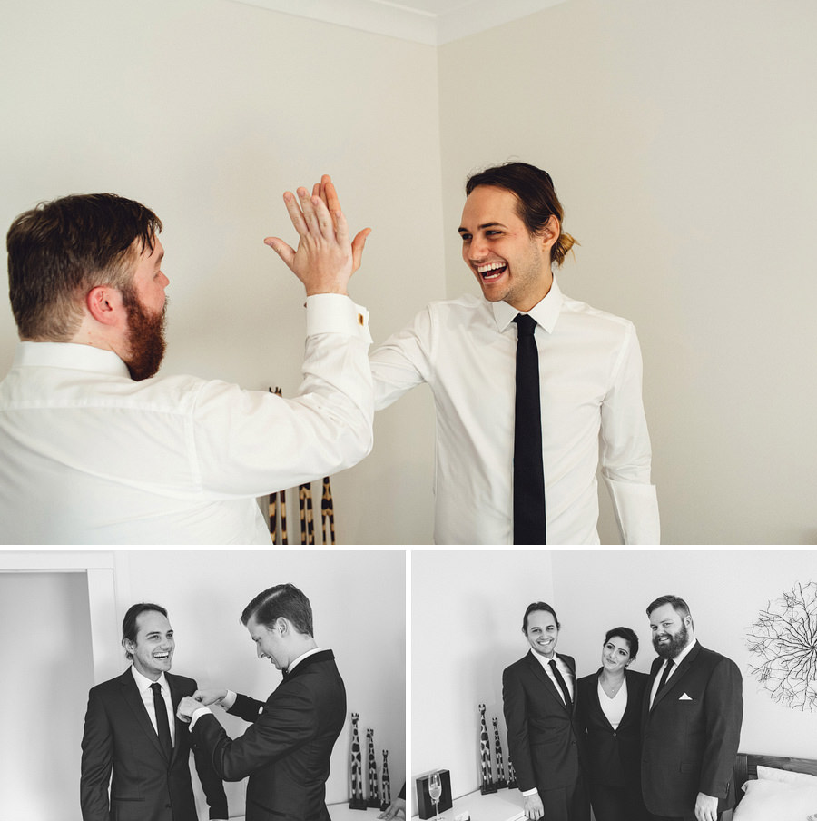 Documentary Wedding Photographer: Groom getting ready