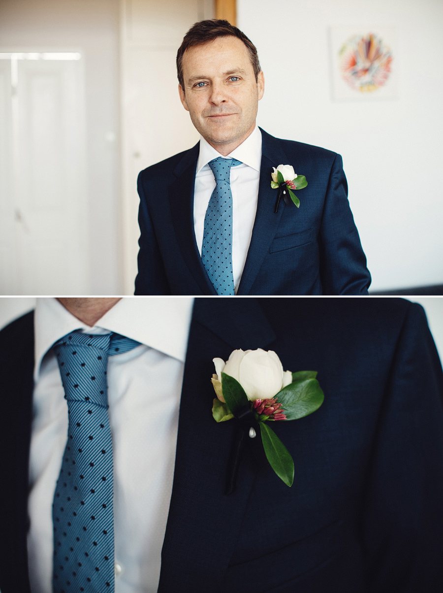Clovelly Wedding Photography: Groom getting ready