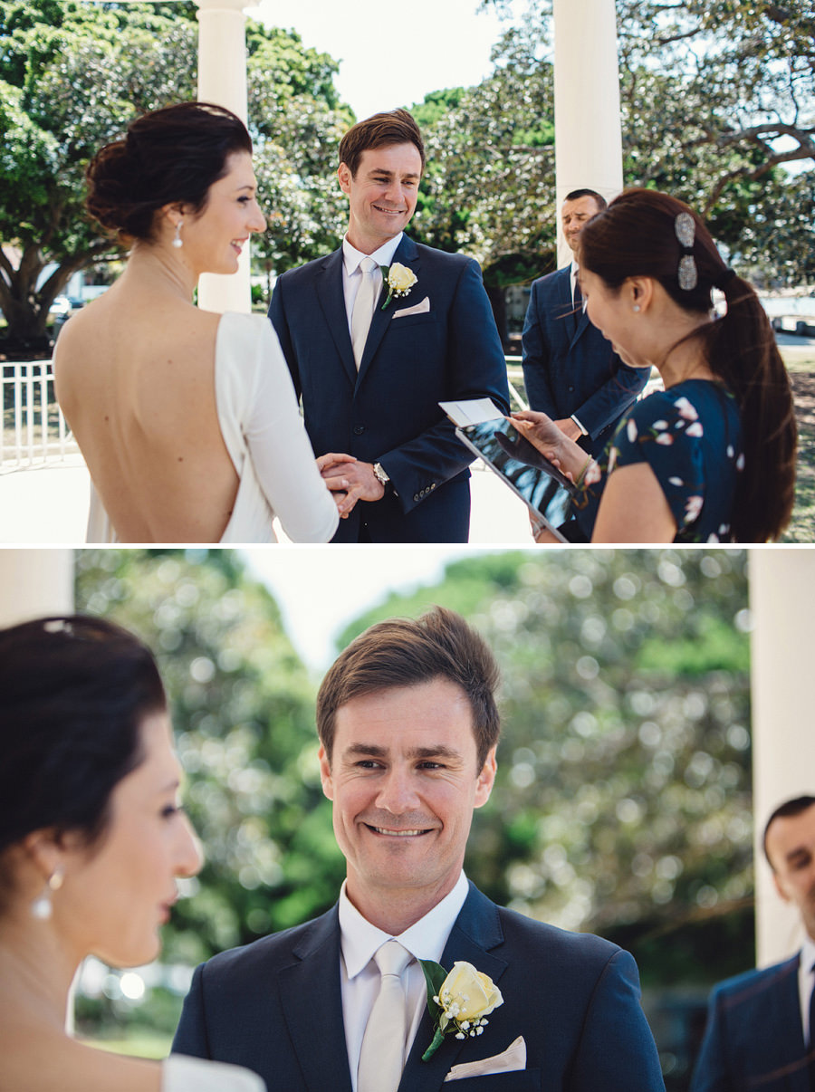 Balmoral Pavilion Wedding Photographer: Ceremony
