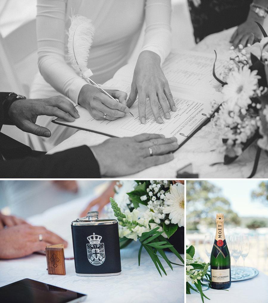 Mosman Wedding Photography: Signing certificate