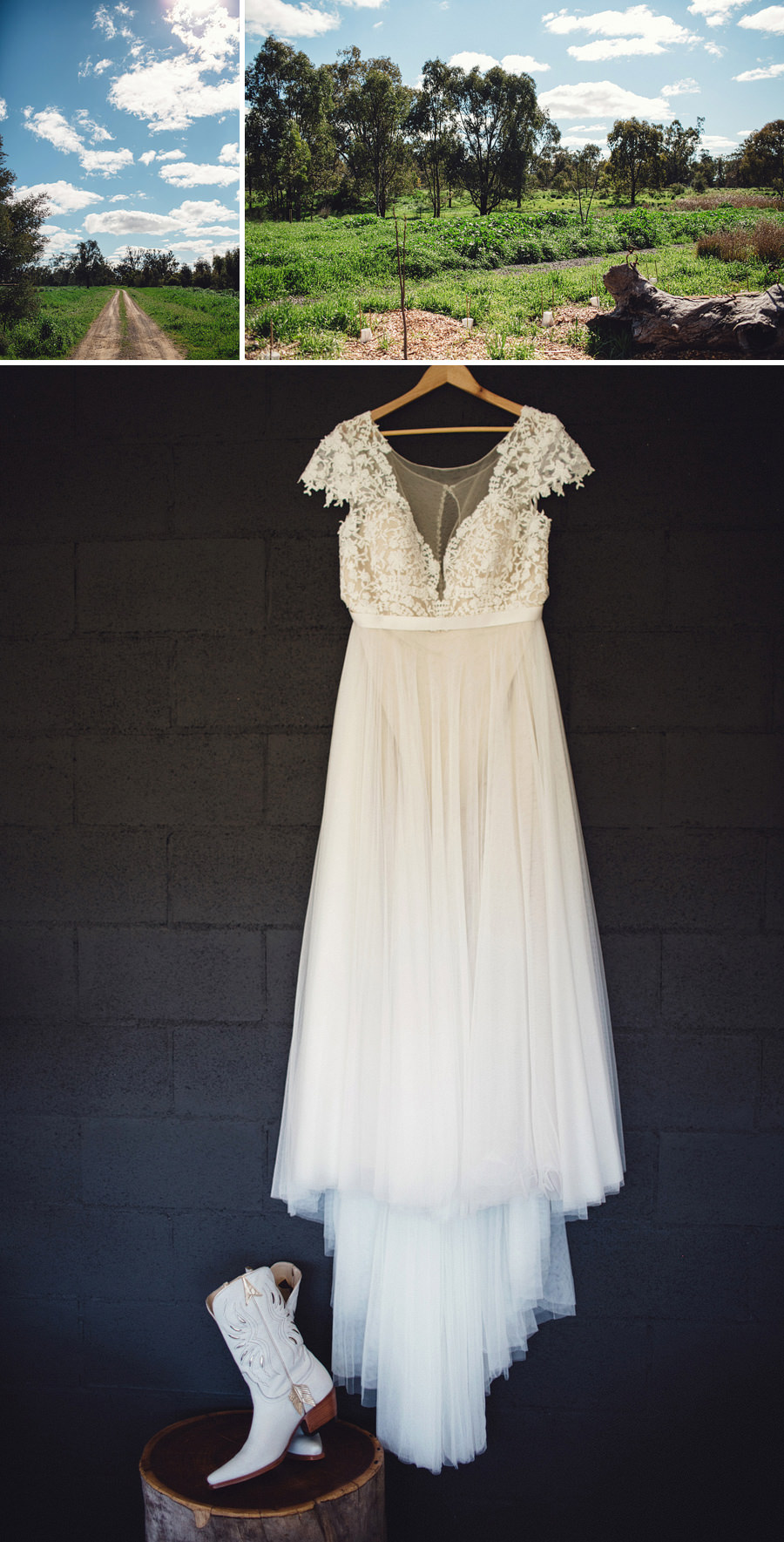 Country Wedding Photography | Wedding Dress