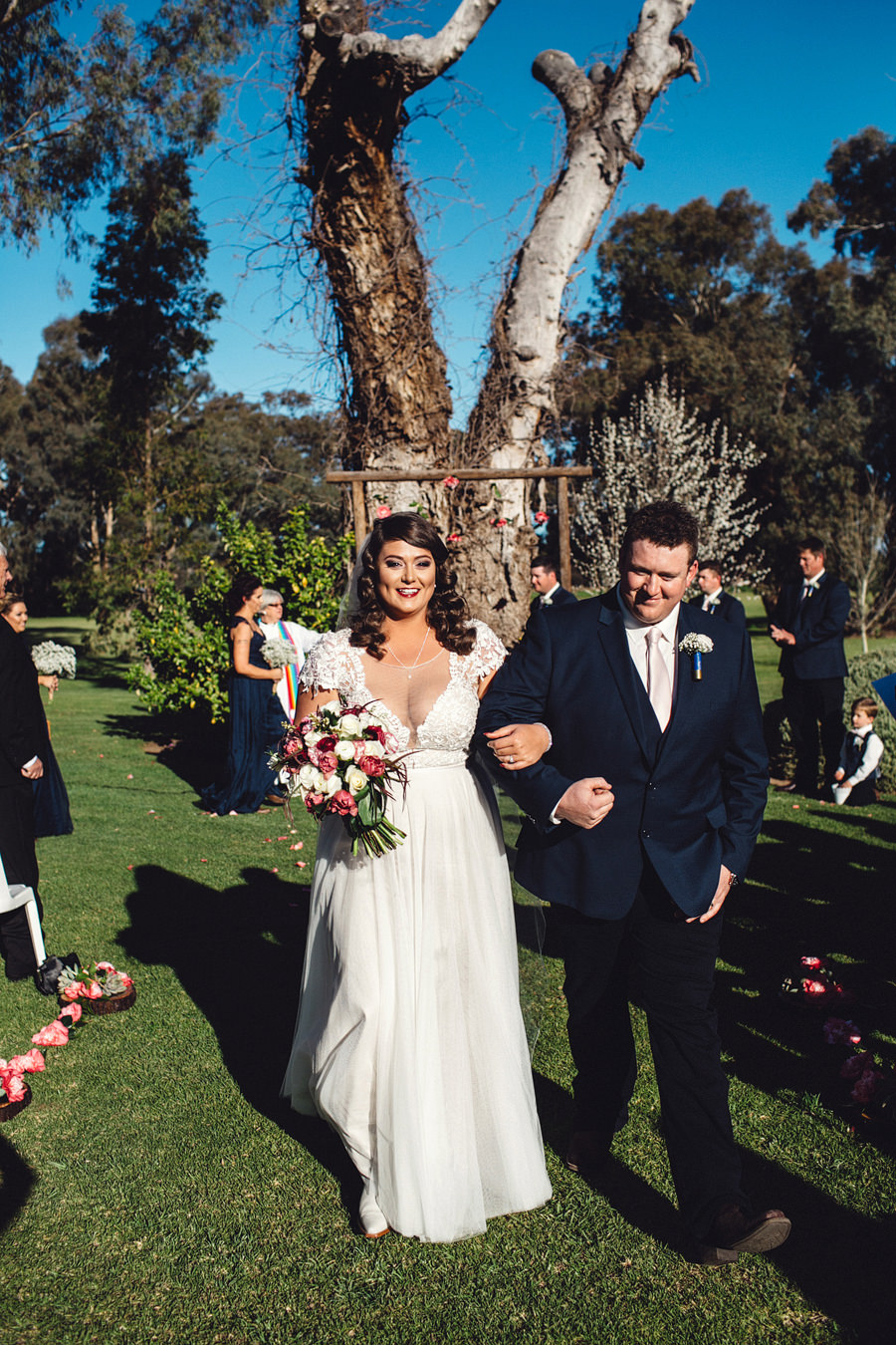 Eugowra Wedding Photographers | Walking down the aisle